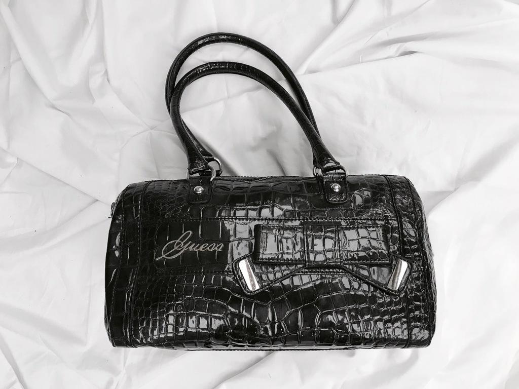 Guess torba torebka a'la krokodyl kokarda piękna