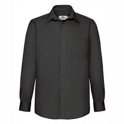 MĘSKA koszula POPLIN LONG FRUIT czarny XL