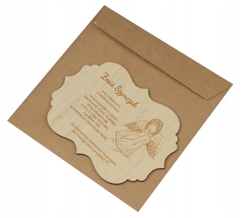 Zaproszenie na Ślub - Drewniane, Personalizowane