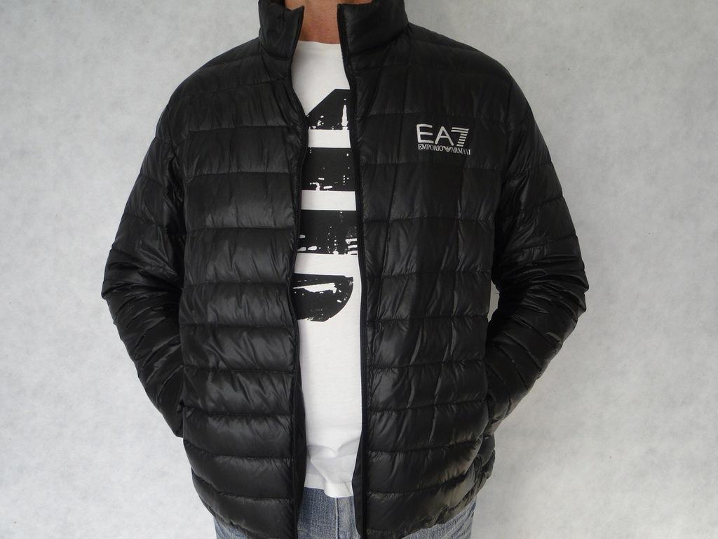 kurtka Armani EA7 3-4xl czarna stójka Italy