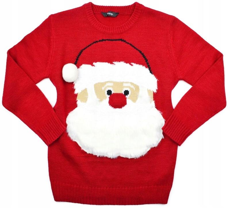 świąteczny sweter sweterek * 116-122