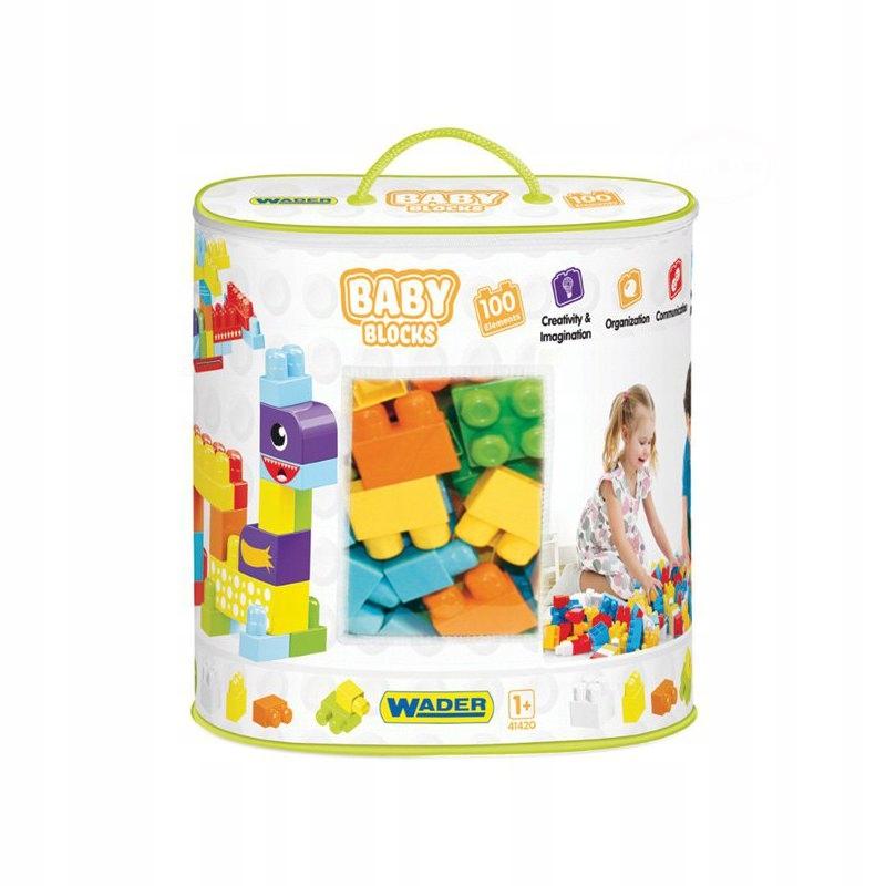 Klocki Wader Baby Blocks 100 sztuk