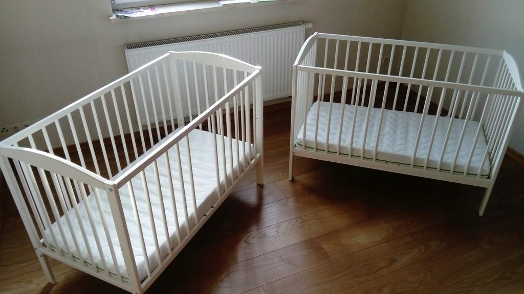 2 kompletne zestawy łóżeczek dziecięcych 120x60