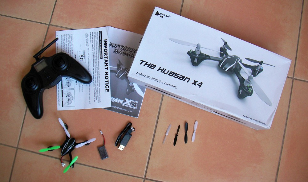 Dron Quadcopter Helikopter Hubsan X4 H107L 2.4GHz
