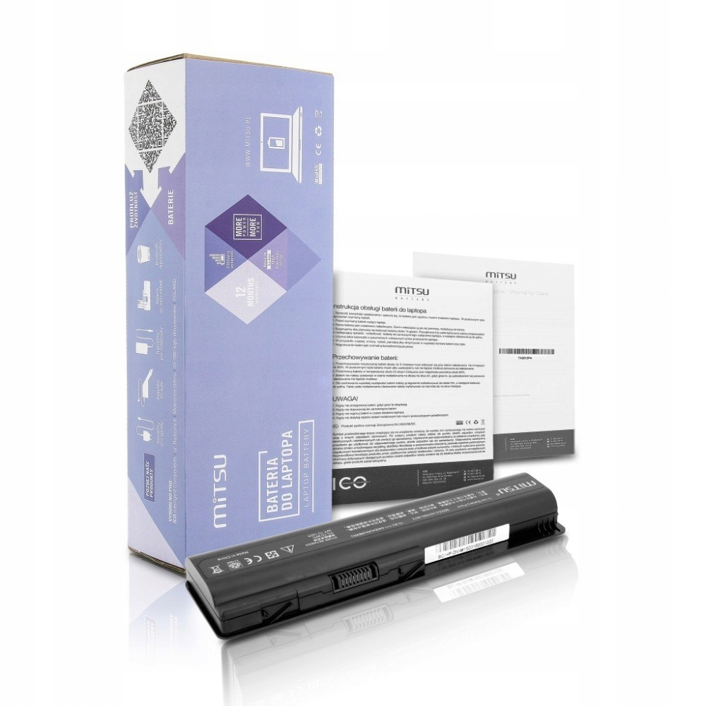Bateria do HP dv4, dv5, dv6 4400 mAh (48 Wh) 10.8