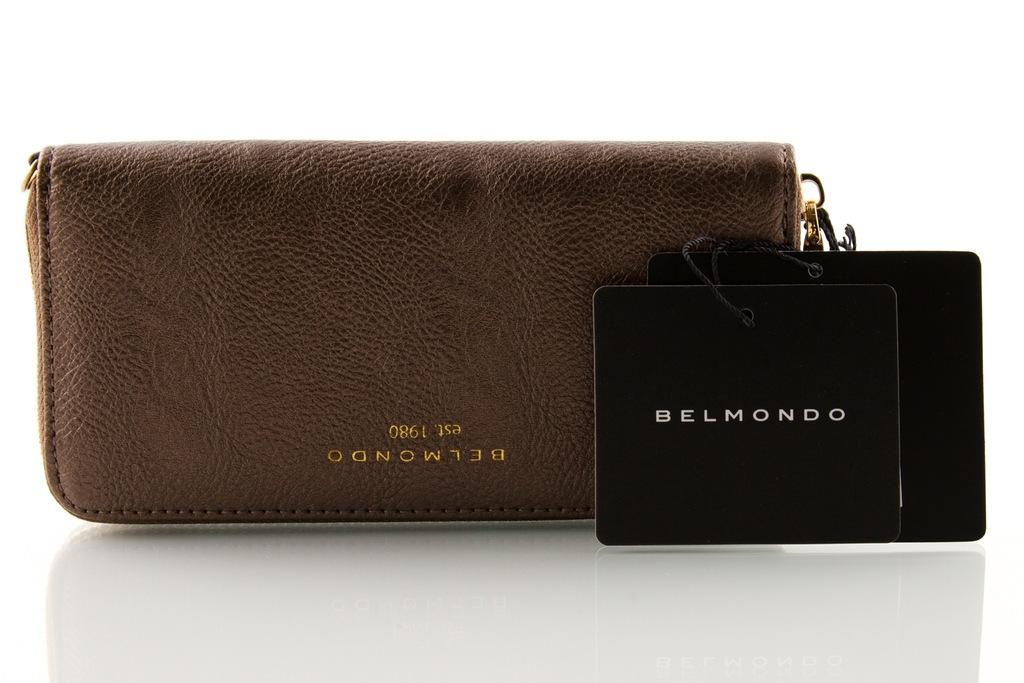 Portfel BELMONDO damski klasyczny brązowy
