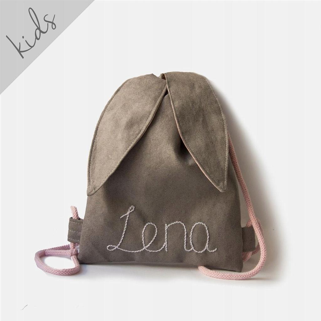 RASPBERI Mini plecak królik z imieniem Lena