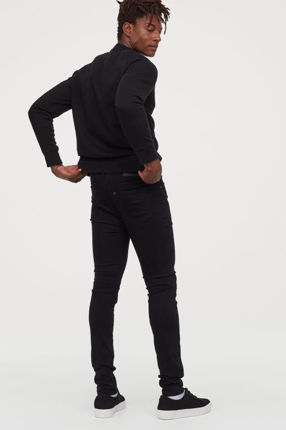 No Fade Black Jeans spodnie 31/32 H&M G121