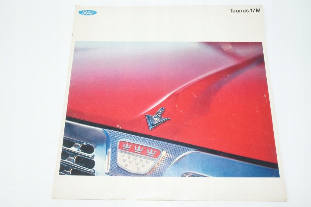 Prospekt samochodowy – Ford TAUNUS 17M lata 70te