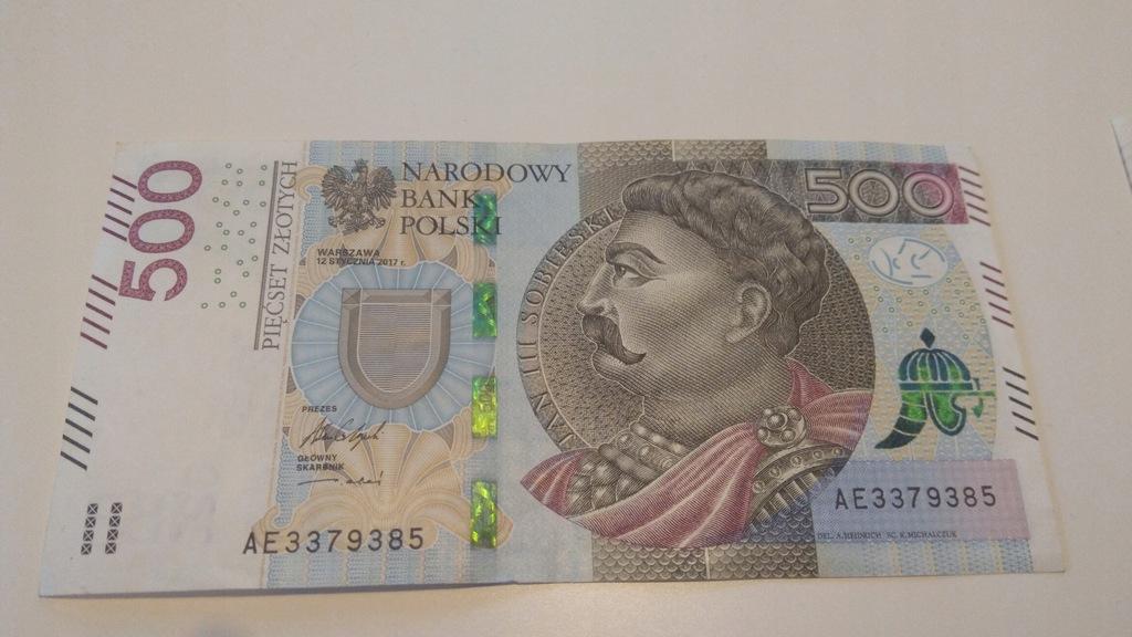 Banknot 500 Zl Seria Ae 8119155297 Oficjalne Archiwum Allegro