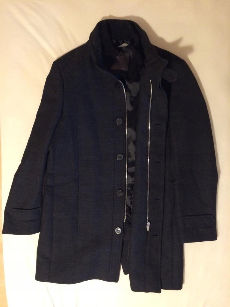 Elegancki Czarny Klasyczny Płaszcz Zara Man XL