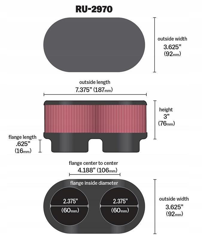 K/&N Air Filter Suzuki GS500 RU-2970