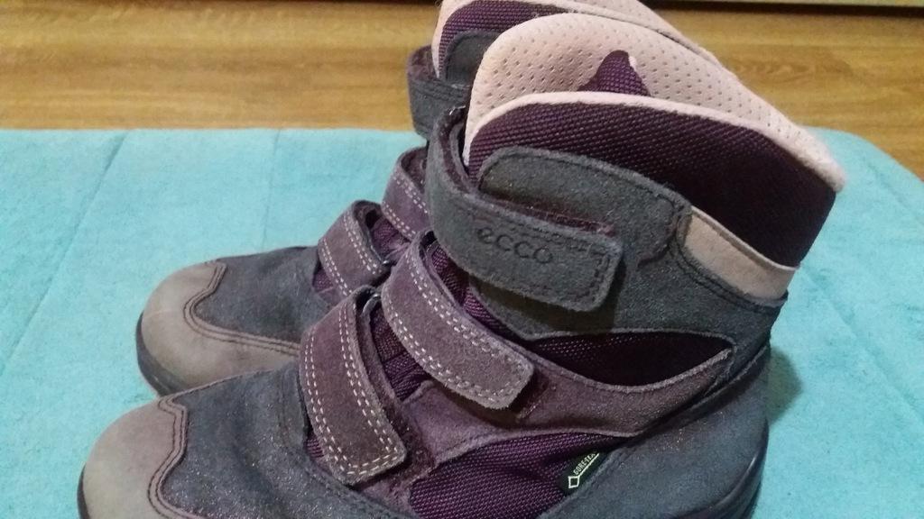 ECCO skórzane buty zimowe śniegowce, rozmiar 34