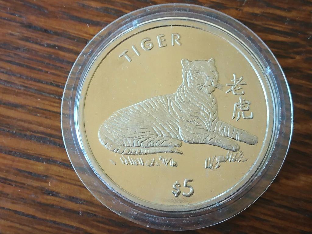 LIBERIA 1997 - 5 dolarów - TYGRYS