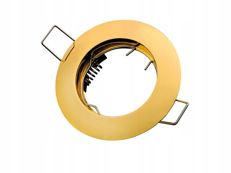 Oprawa sufitowa 50mm okrągła stała GU10 ZŁOTA
