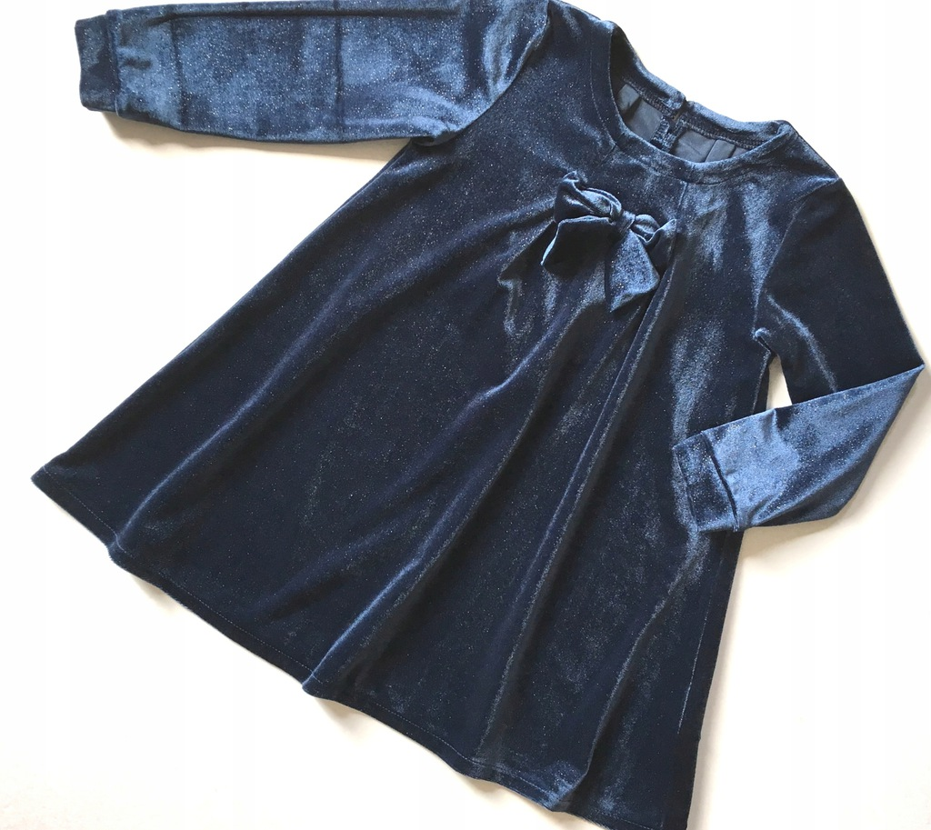 NAME IT sukienka welur brokat 98 2-3 lata