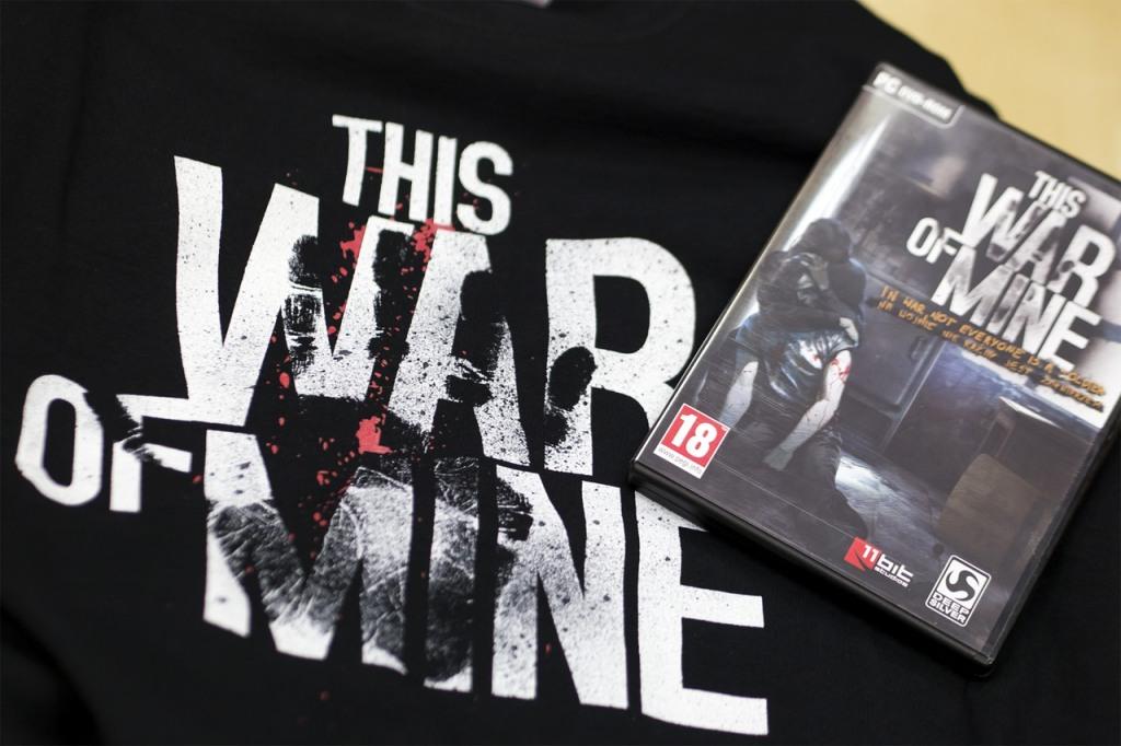 This War of Mine z autografami twórców + koszulka