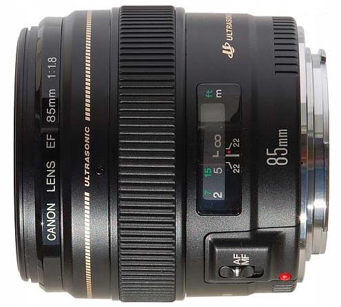Obiektyw portretowy CANON 85 mm f/1.8 EF USM