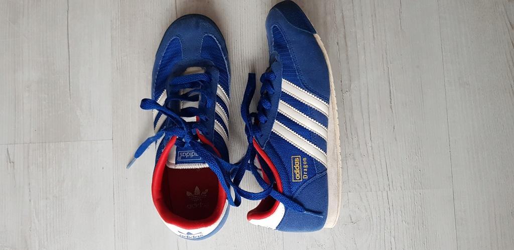 ADIDAS Dragon niebieskie buty sportowe 36/37
