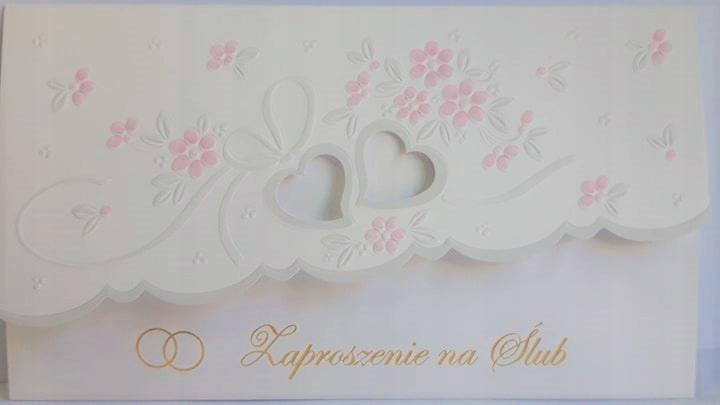 Zaproszenie Ślubne ślub tłoczone Ś26