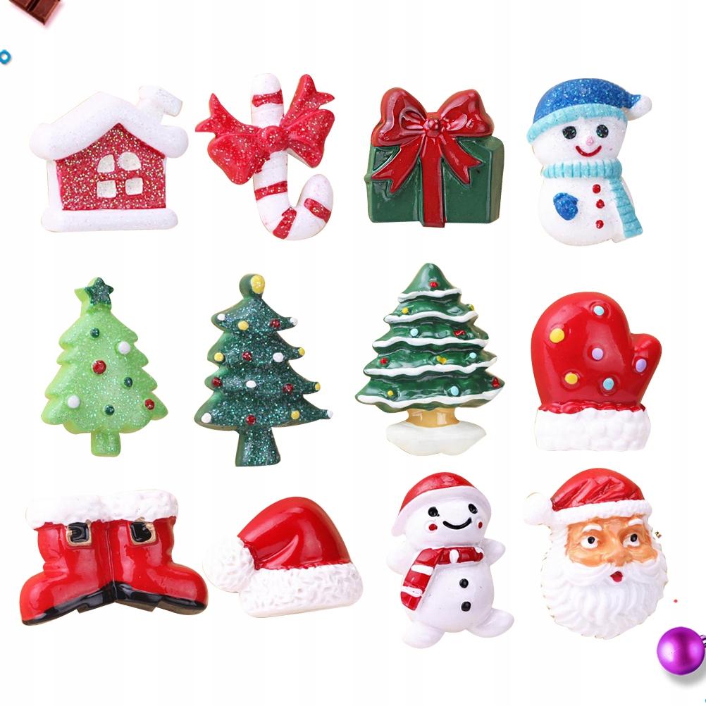 12 sztuk Boże Narodzenie Zabawki Zabawki Magnetycz