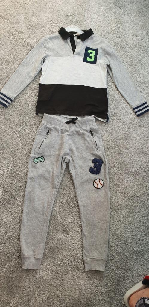 komplet chlopiec dres hm 122 128 spodnie bluza