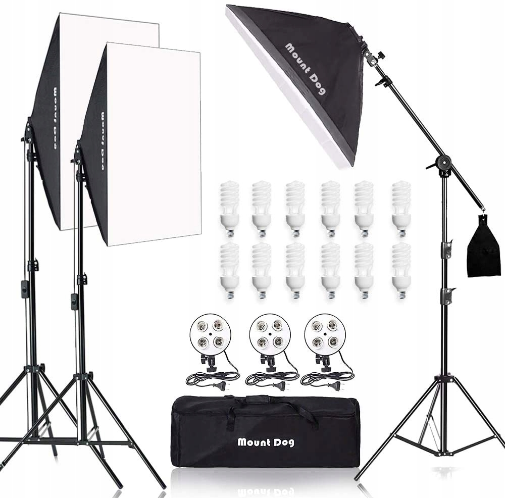 MountDog Photo Studio Zestaw Softbox, 12x45W
