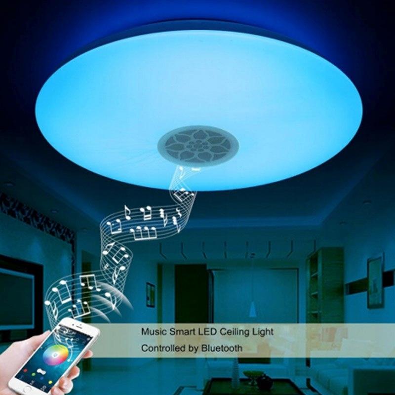 LAMPA SUFITOWA LED RGB WW GŁOŚNIK BLUETOOTH APP