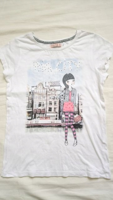 T-shirt 146 coolclub nadruk