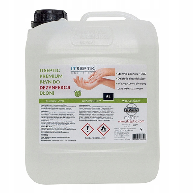 Płyn do dezynfekcji dłoni ITSEPTIC 5000ml
