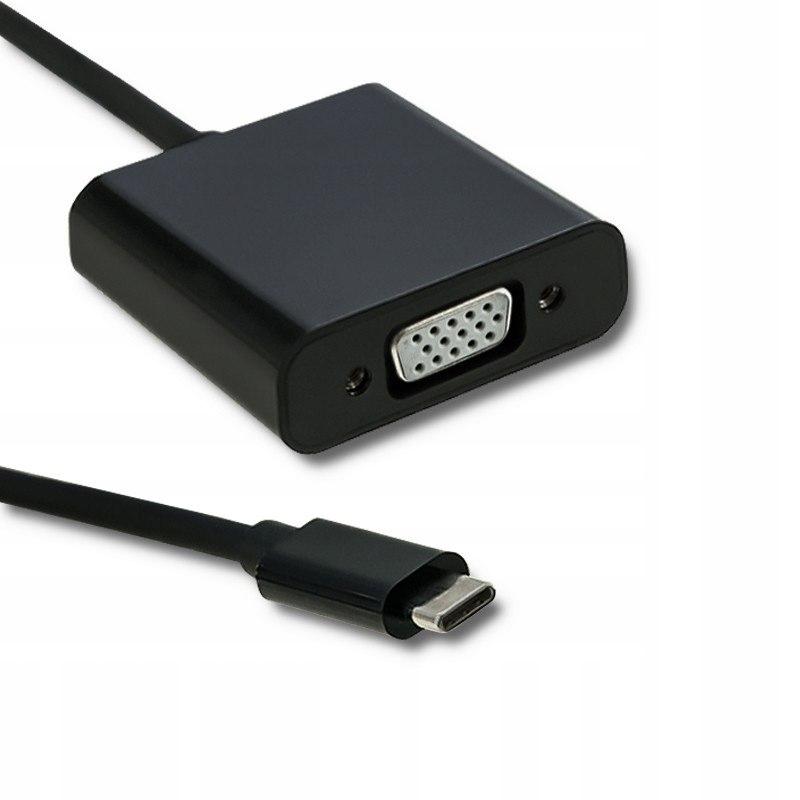 Adapter USB typ C męski | VGA żeński | 1080P | 23c