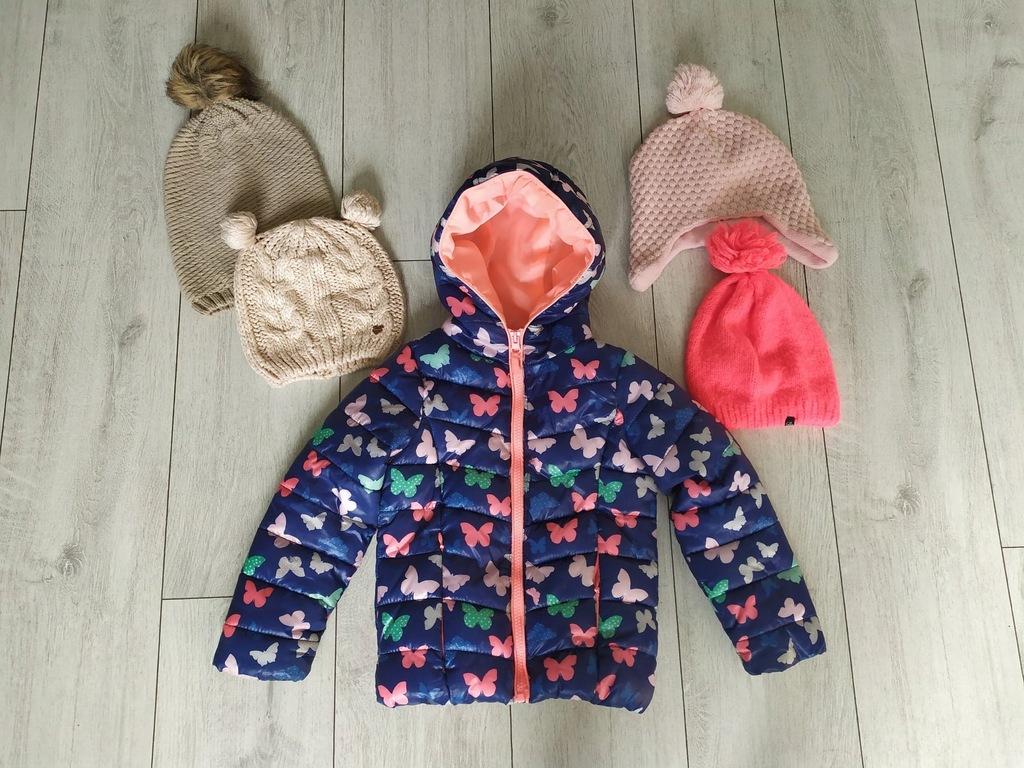 Coolclub kurtka zimowa r.110+ czapki