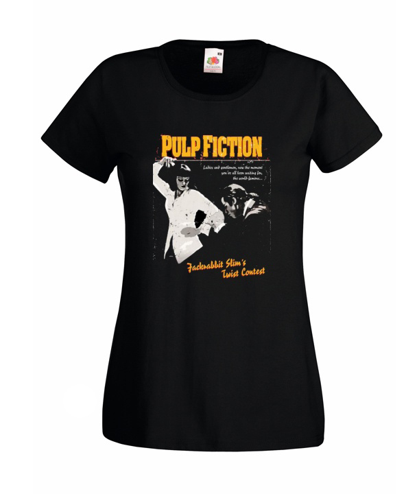 L KOSZULKA DAMSKA PULP FICTION Tarantino WZORY