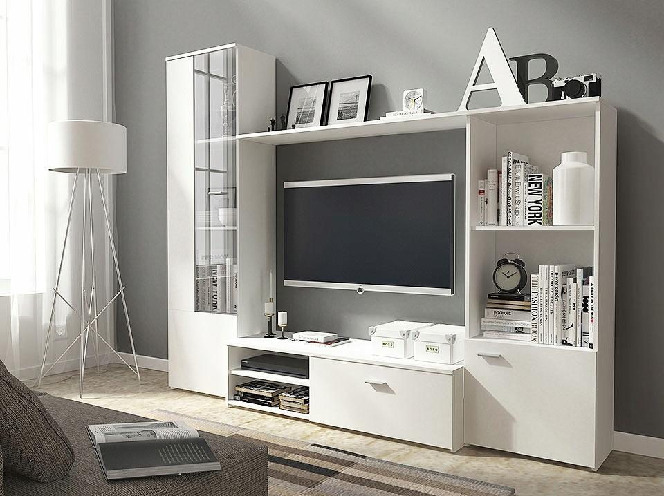 Meblościanka HARIS biała salon, pokój młodzieżowy