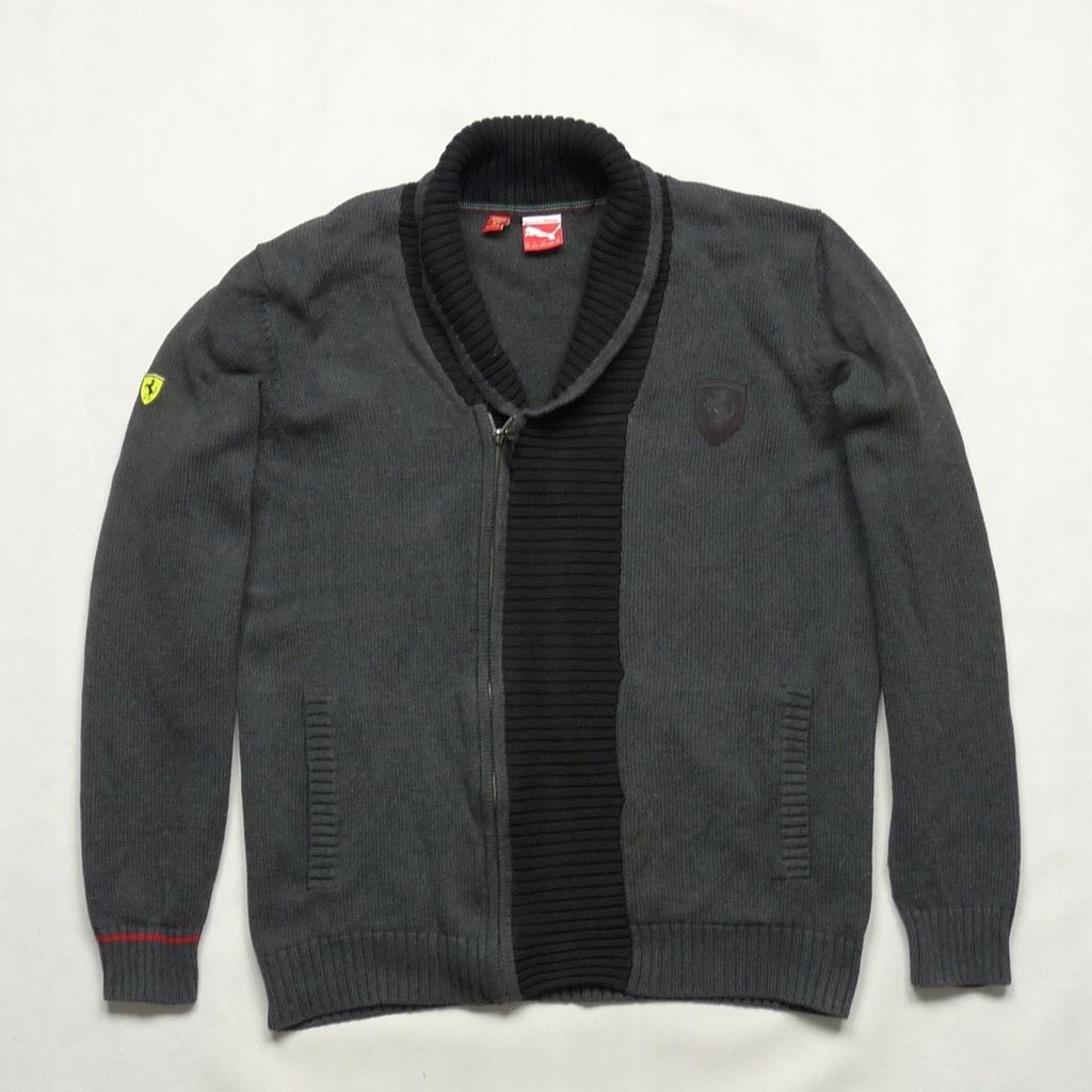 PUMA FERRARI szary męski bawełniany sweter XXL
