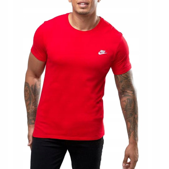 Nike T shirt Koszulka Męska Bawełna Czerwona r. L