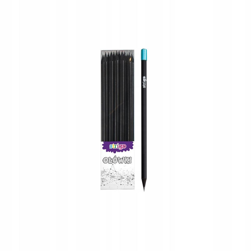 Ołówek STRIGO z czarnego drewna z kryształem