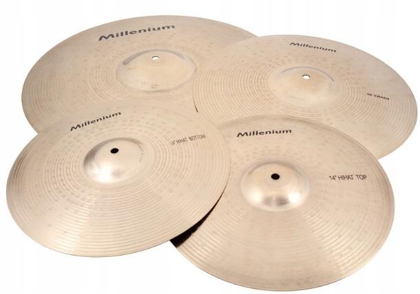 Zestaw talerzy perkusyjnych z brązu Millenium B20