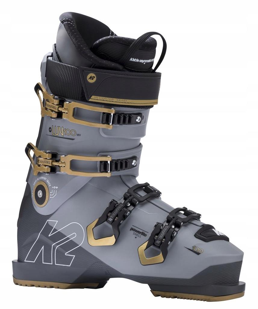 Buty narciarskie K2 LUV 100 MV Szary 27/27.5 Złoty