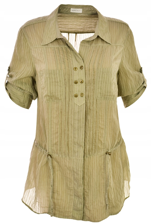 aAJ9608 BONITA oliwkowa klasyczna koszula 48 8853809140  7gY4g