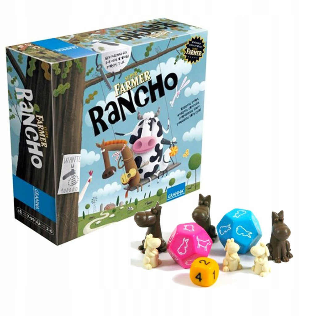 Granna Super Farmer Rancho Gra Planszowa Farma 8940731455 Oficjalne Archiwum Allegro