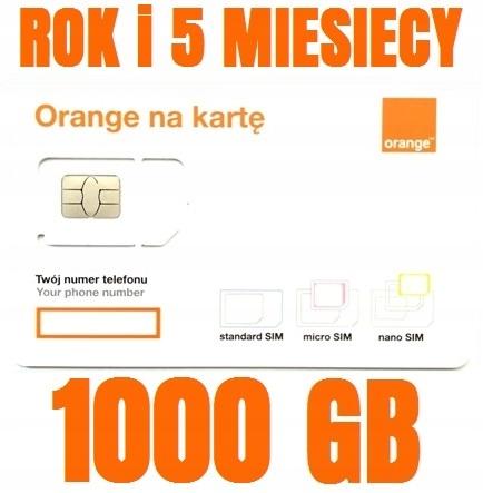 STARTER INTERNET ORANGE FREE 1000GB ROK+5 MIESIĘCY