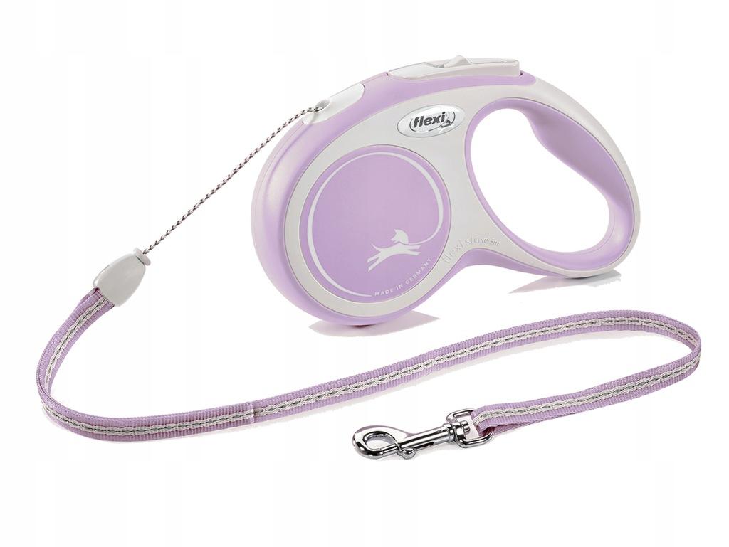 FLEXI smycz automatyczna dla psa różowa S 8m LINKA