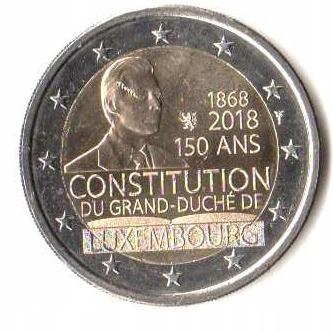 2 euro okol. Luksemburg 2018 Konstytucja- monetfun
