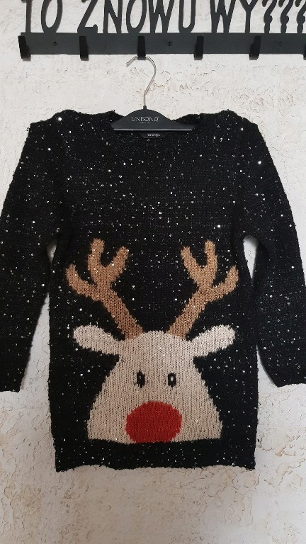 sweterek/ tunika święta _ renifer rozm 122