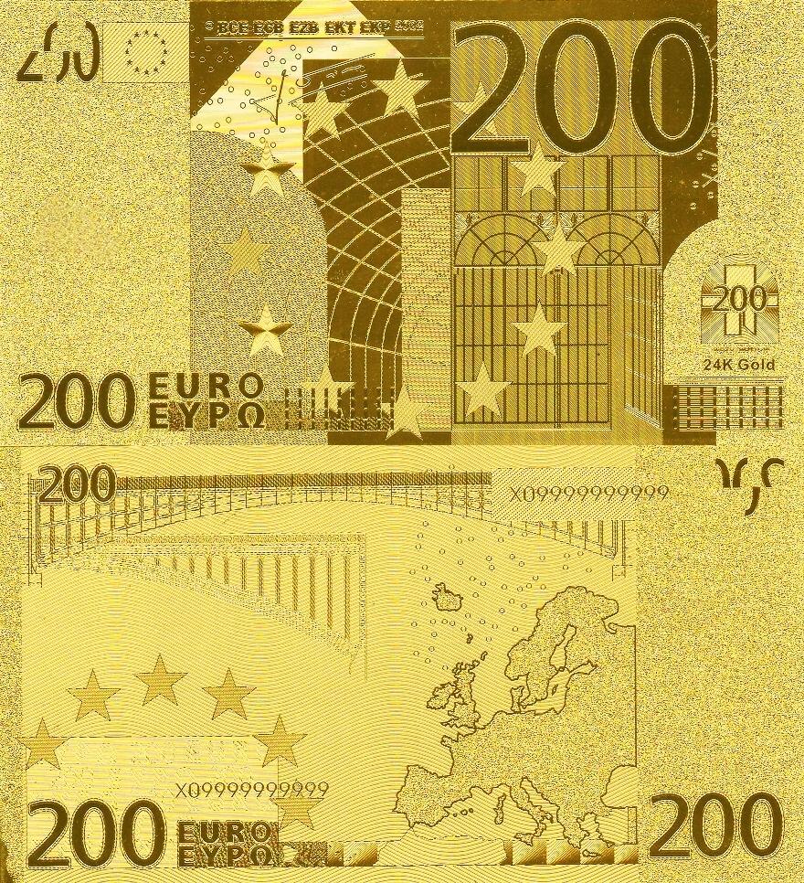 # UE - 200 EURO - ZŁOTA FOLIA - UNC-