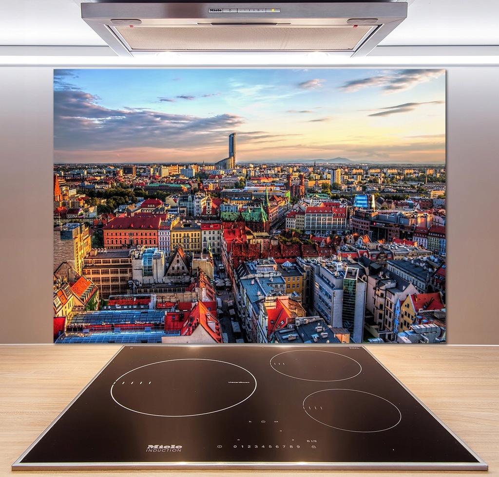 Panel do kuchni Panorama Wrocławia 100x70 + KLEJ