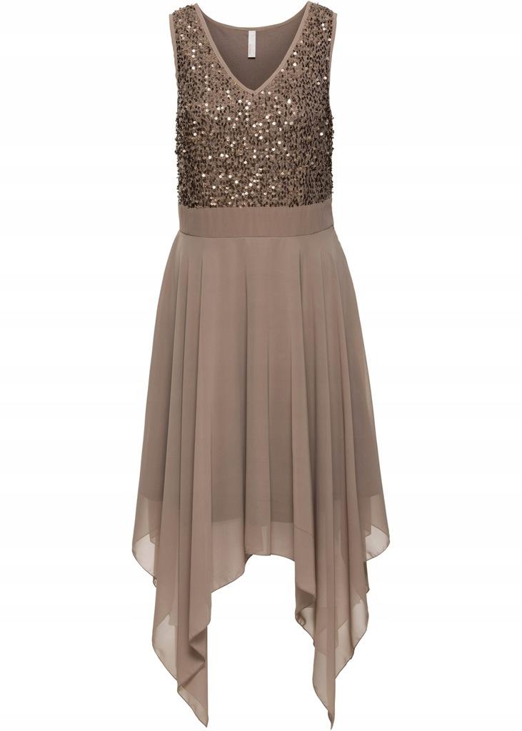 S21 BPC Sukienka wieczorowa z cekinami r.42