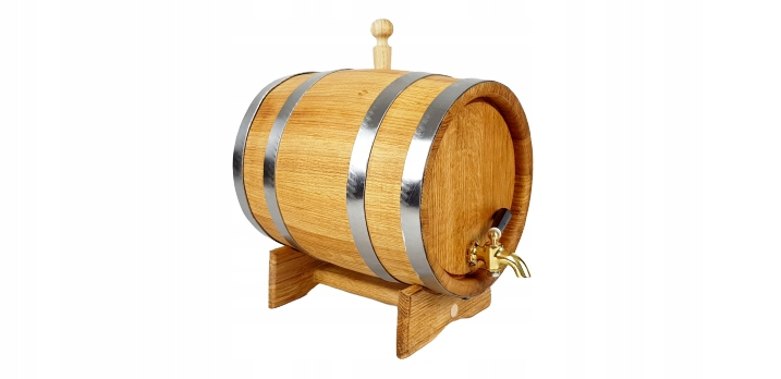 Beczka dębowa 15L na bimber whisky Kranik mosiężny