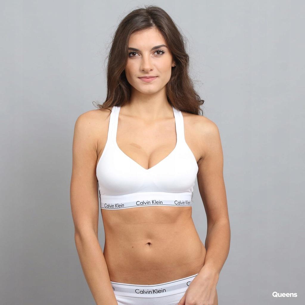 Calvin Klein biały biustonosz sportowy S 36